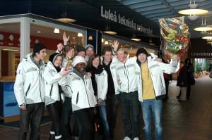 Team LTU hyllas på LTU (Foto: Leif Nyberg)